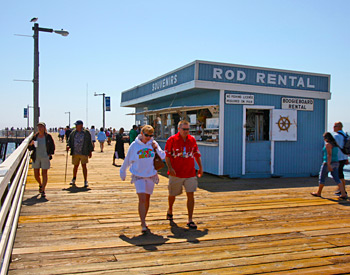 Fishing Rod Rentals on the Pismo Beach Pier