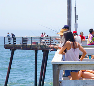 Fishing on the Pismo Beach Pier