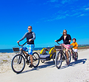 Family Bike Rides near the Beach