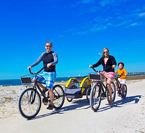 Family Bike Rides near the Beach