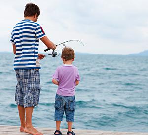 Kids fishing near Pismo Sands Beach Club
