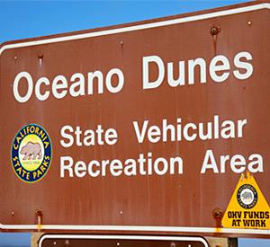 Oceano Dunes Sign